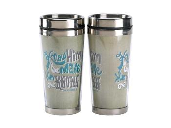 16 Oz. Stainless Steel Insulated Travel Mug with Lid  ~ Make Him Known
