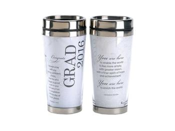 16 Oz. Stainless Steel Insulated Travel Mug with Lid  ~ 2016 Graduate