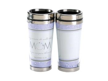 16 Oz. Stainless Steel Insulated Travel Mug with Lid  ~ Mom Surpass