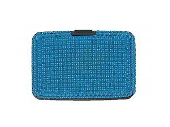 Blue Scan Safe Acrylic Stone Bling Hard Wallet With RFID Protection