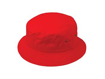 Red Fun & Fashionable Unisex Kids Cotton Bucket Hat