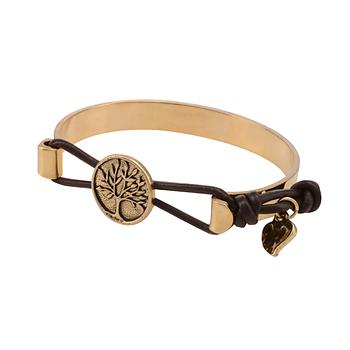 Live In The Now Goldtone Tree Charm Cuff Bracelet