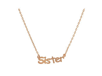 Dainty Metal Sister Pendant Necklace