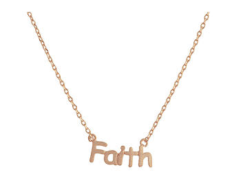 Dainty Metal Faith Pendant Necklace