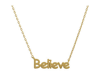 Dainty Metal Believe Pendant Necklace