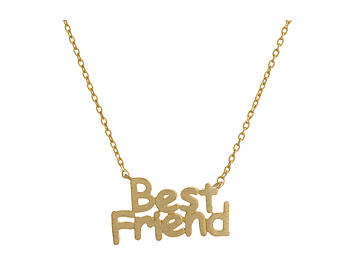 Dainty Metal Best Friend Pendant Necklace