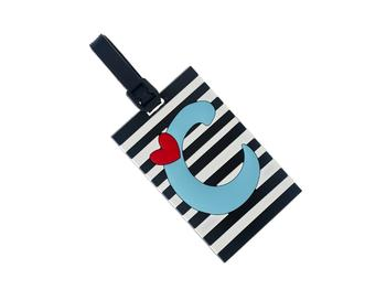 'C' initial ~ Travel Suitcase ID Luggage Tag and Suitcase Label