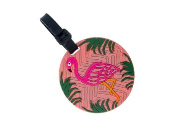Pink Flamingo ~ Travel Suitcase ID Luggage Tag and Suitcase Label