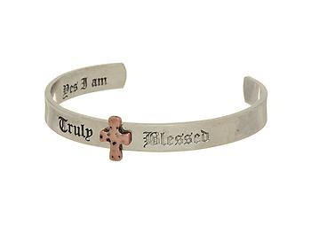Silvertone Truly Blessed Cuff Bracelet