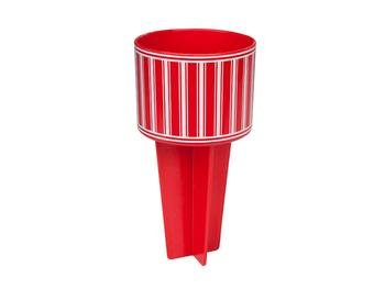 Red & White Beach Buddy Cup Holder