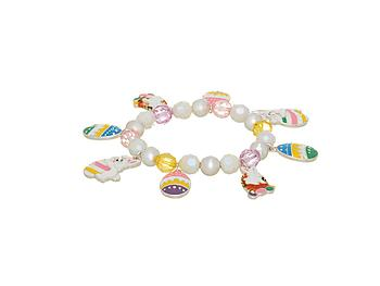 Easter Egg and Bunny Rabbit Charm Bracelet