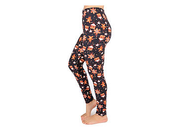 Christmas Print Peach Skin Women's Full Length Patterned Fashion Leggings ~ Style 601D