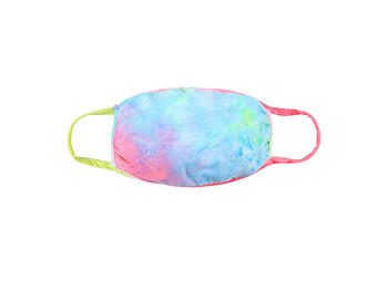 Pink Reusable Tie-Dye T-Shirt Cloth Face Mask