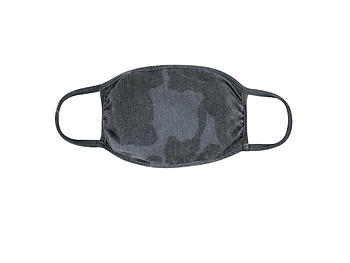 Black Reusable Camouflage T-Shirt Cloth Face Mask