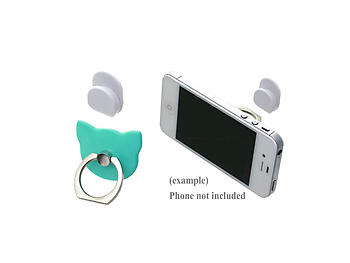Aqua Cat Head Premium Universal Smartphone Mount Ring Hook