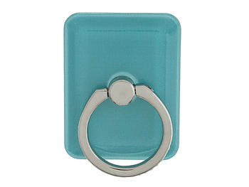 Aqua Square Gold Crown Rhinestone Safety Ring & Portable Stand