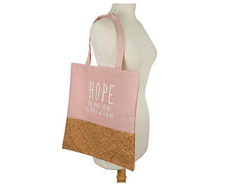 Hope ~ The More We Do Cork & Canvas Large Tote Bag