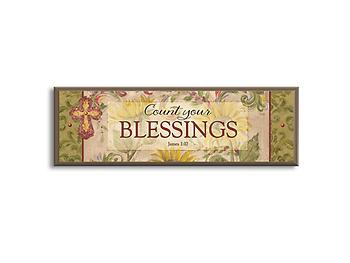 Count Your Blessings Mini Plaque