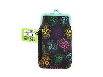 Colorful & Fun Neoprene Cigarette Pouch with Zipper Pocket ~ Style 129E