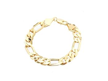 10mm Goldtone Chain Bracelet