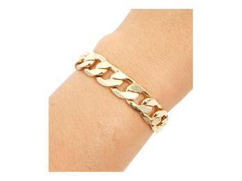 12.5mm 9 inches Goldtone Chain Bracelet