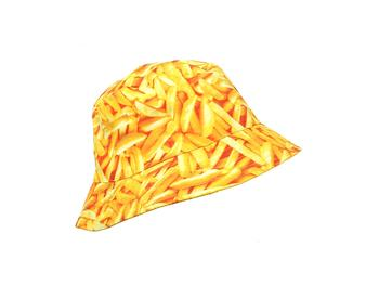 French Fries Pattern Fashion Bucket Hat