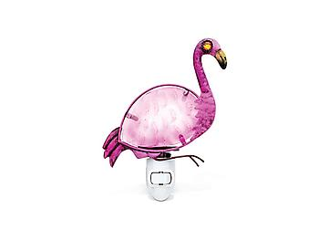 Flamingo Art Glass and Metal Night Light