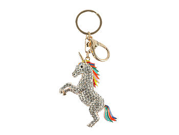 Unicorn Moving Parts Hollow Textured Metal Key Chain Accessory Handbag Charm