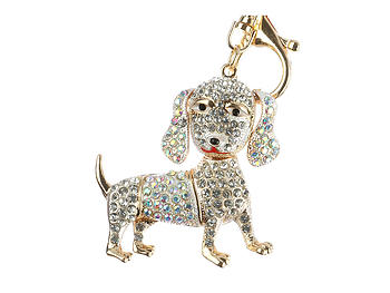 Puppy Dog Moving Parts Hollow Textured Metal Key Chain Accessory Handbag Charm