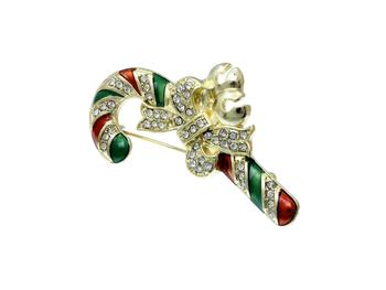 Christmas Cane Pin & Brooch