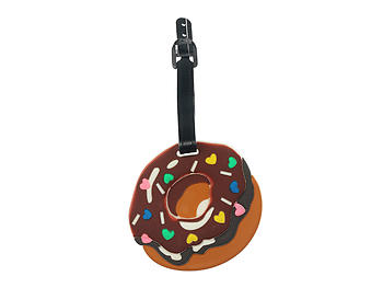 Hearts Icing Donut ~ Travel Suitcase ID Luggage Tag and Suitcase Label