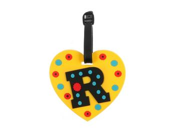 'R' initial ~ Travel Suitcase ID Luggage Tag and Suitcase Label