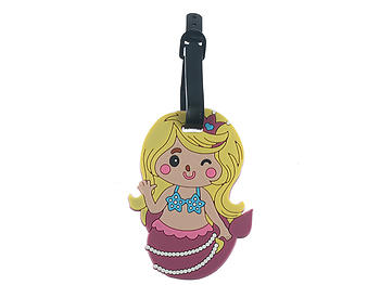 Baby Mermaid ~ Travel Suitcase ID Luggage Tag and Suitcase Label