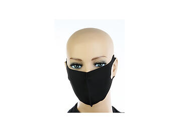 Classic Black Protective Face Mask Washable Reusable ~ Style 840D