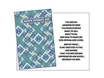 A Day Devoted To You ~ Father's Day Card