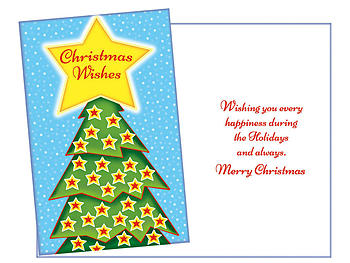 Christmas Wishes Star ~ 6 Pack Holiday Greeting Cards