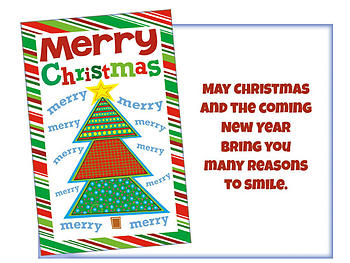 Many Reasons To Smile ~ 6 Pack Holiday Greeting Cards