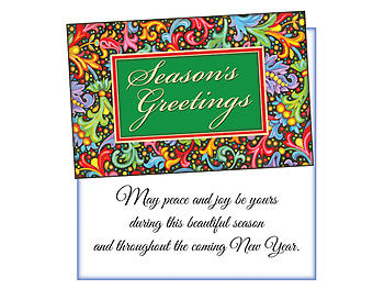 Peace And Joy ~ 6 Pack Holiday Greeting Cards