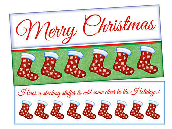A Stocking Stuffer ~ Christmas Holiday Gift Card or Money Holder