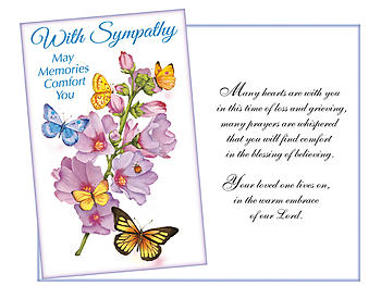 Memories That You Carry ~ Sympathy Card
