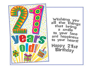 A Smile To Your Face ~ 21st Birthday Card