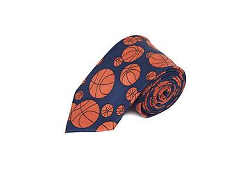 Basketball Novelty Tie ~ Navy