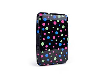Black Dots Aluminum Wallet Credit Card Holder With RFID Protection