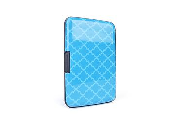 Blue Pattern Aluminum Wallet Credit Card Holder With RFID Protection