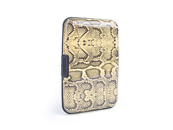 Yellow Snake Aluminum Wallet Credit Card Holder With RFID Protection