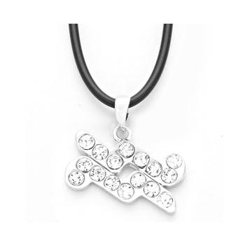 Aquarius Crystal Pave Zodiac Pendant Necklace