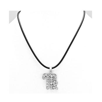Virgo Crystal Pave Zodiac Pendant Necklace