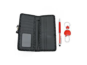 London City Wallet with Pen and Keychain Gift Set