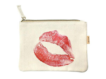 Small Cotton Canvas Cosmetic Zipper Eco Pouch Bag (Collection 2)