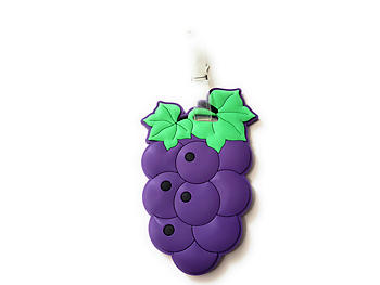 Purple Grapes ~ Travel Suitcase ID Luggage Tag and Suitcase Label